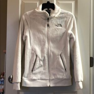 North Face White Fleece Jacket XS